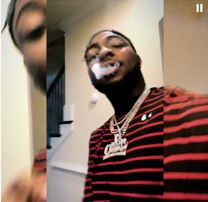 Davido Smoking And Showing Off His Latest Iced Out Jewelry Collection (See Photos)