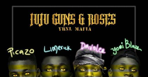 YBNL Mafia (Picazo, Yomi Blaze, Davolee & Limerick) – Juju, Guns & Roses Artwork