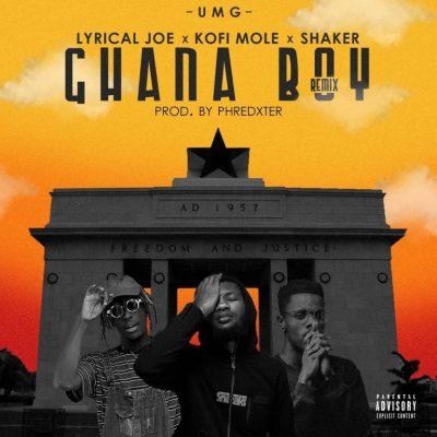 Lyrical Joe ft. Kofi Mole & Shaker – Ghana Boy (Remix) (Prod. By Phredxter)